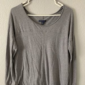 Grey long-sleeved T